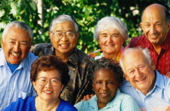 group of people smiling