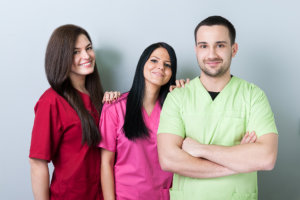 caregiver showing their genuine smile